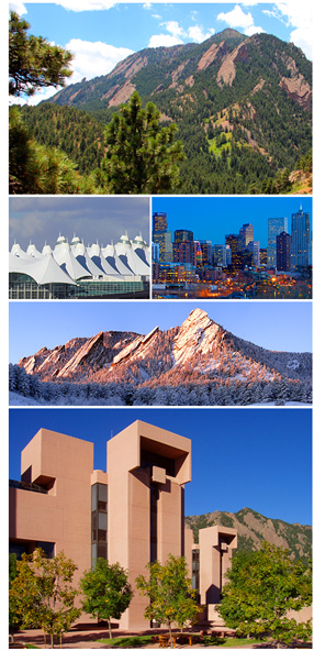 Photos of Boulder and NCAR Building Mesa Lab, 2018 North American Hail Workshop on Hail and Hailstorms, Microphysics and dynamics of hailstorms