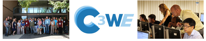 C3WE Logo and group photo